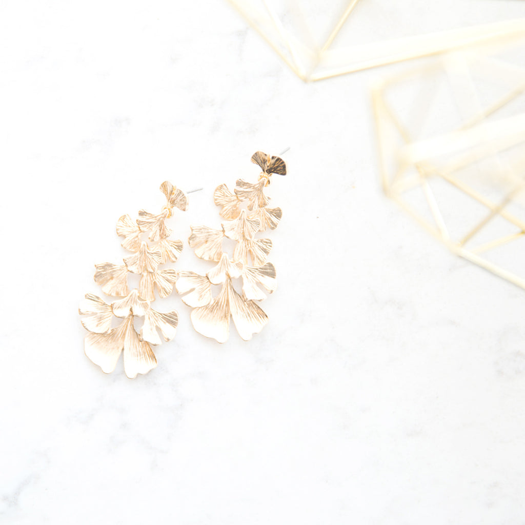 Gilded Foliage Earrings