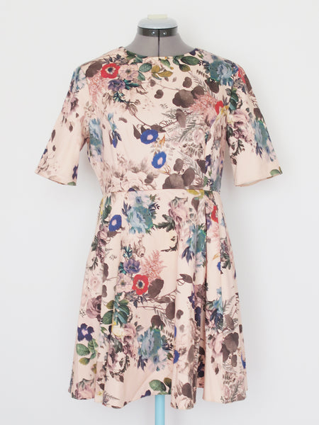 ASOS blush pink floral dress US8