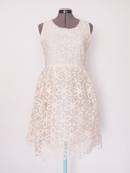 ASOS cream daisy dress US10
