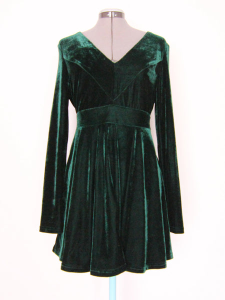 Lulus green velvet dress Large