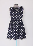 Le Bomb Shop navy polka dot dress Large