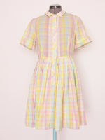 ASOS pastel checkered dress US6
