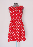Le Bomb Shop red polka dot dress Medium