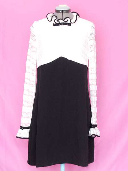 Sister Jane black and white dress Large