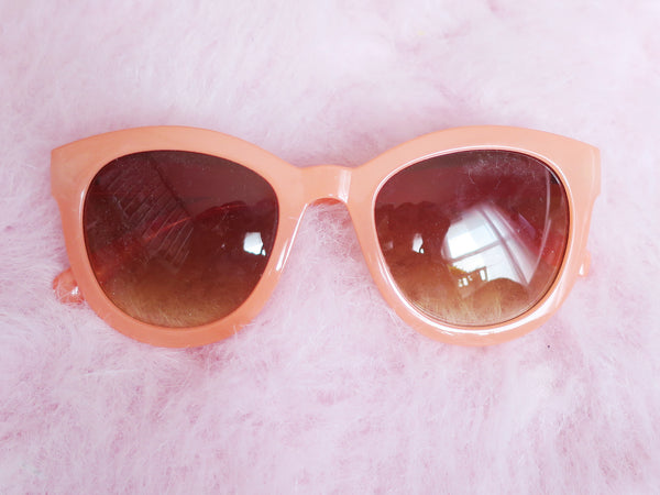 Orange creamsicle round sunglasses