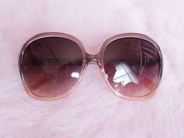 Oversized 70's style ombre sunglasses