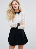 ASOS peter pan collar lace dress Medium