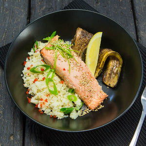 SESAME SALMON & CAULIFLOWER RICE (DF, EF)