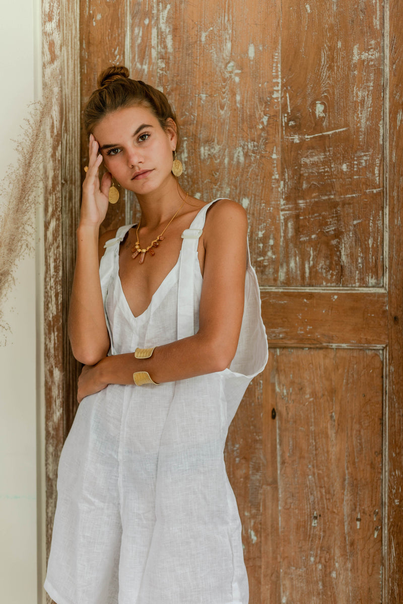 Ochre + Earth Manu Jumpsuit Bone