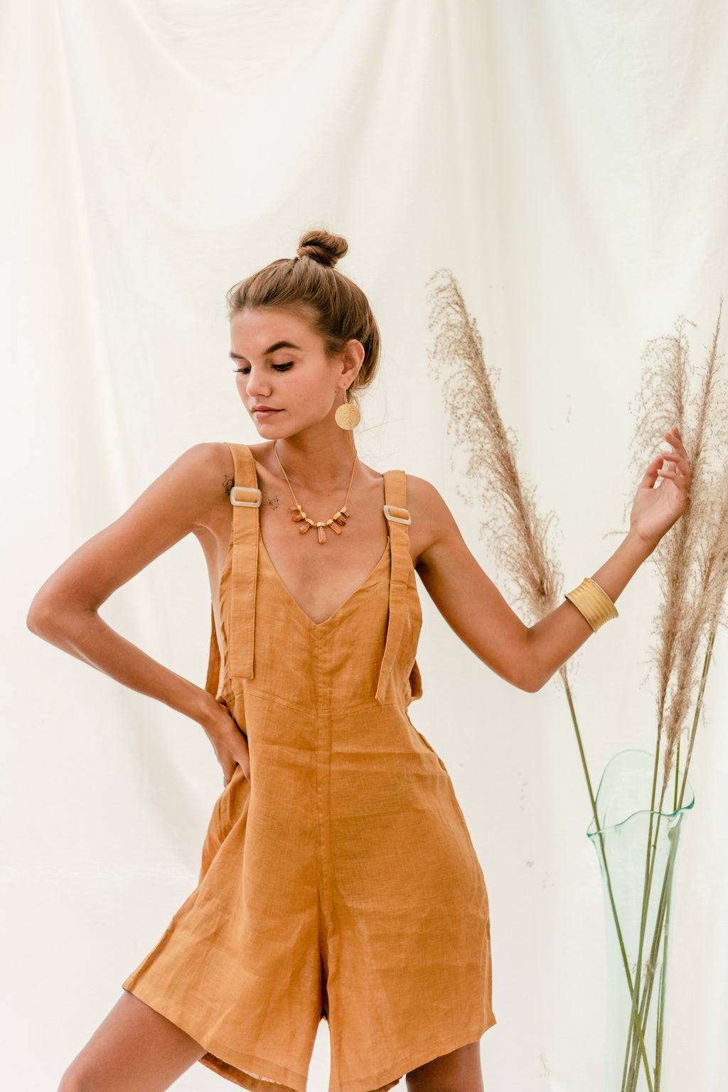 Ochre + Earth Manu Jumpsuit Golden Honey
