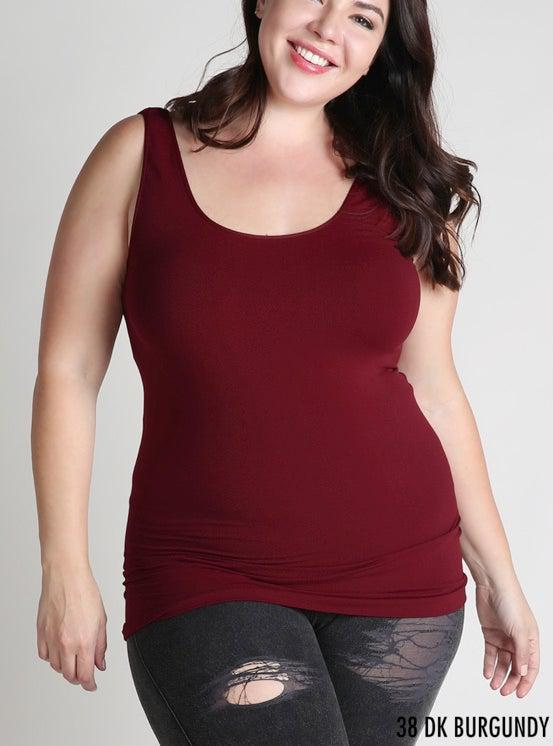 Plus Size Tank-Clothing - Extended Sizes-Three:Twelve
