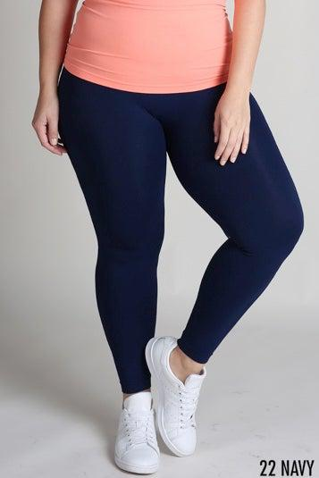 Plus Size Ankle Length Leggings-Clothing - Extended Sizes-Three:Twelve