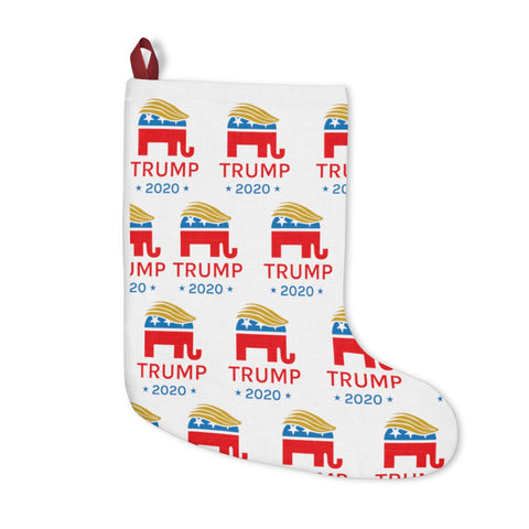 Donald Trump 2020 Elephant Hair Swoosh Christmas Stockings - Onesize - Home Decor $24.99 Onlyshopusa
