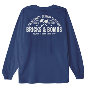 Bricks and Bombs Franklin Longsleeve T