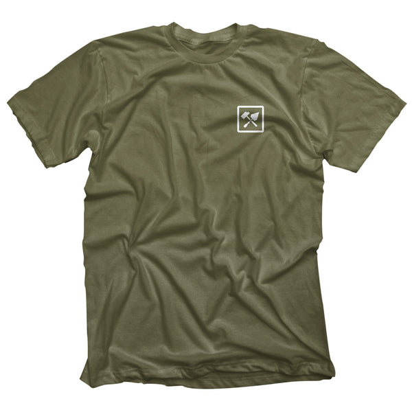 Bricks and Bombs Franklin T-shirt Olive