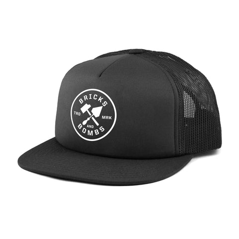 Bricks and Bombs Logo Trucker Hat Black