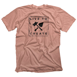 Bricks and Bombs Xerox Tee Desert pink