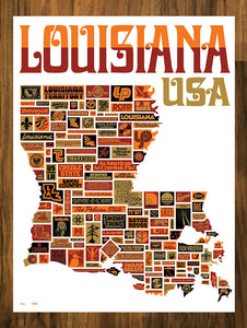 "Draplin Design Co. ""Vive La Louisiane"" Poster"