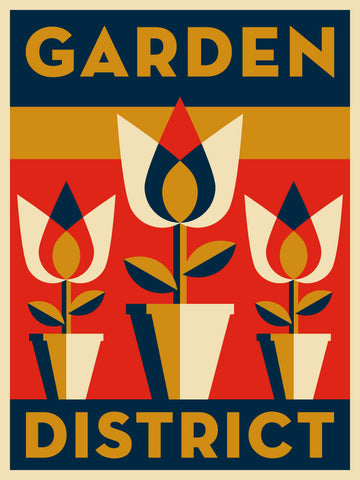Garden District Neighborhood Poster