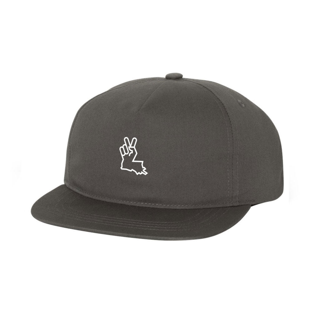 Louisiana Peace Hand 5-Panel Grey