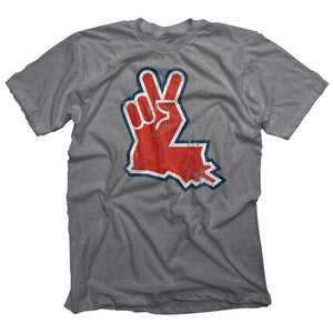 Louisiana Peace Hand Grey