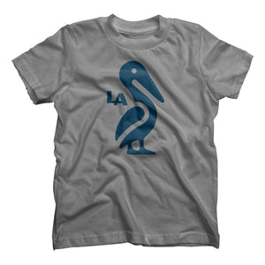 Louisiana Pelican Icon Kids T