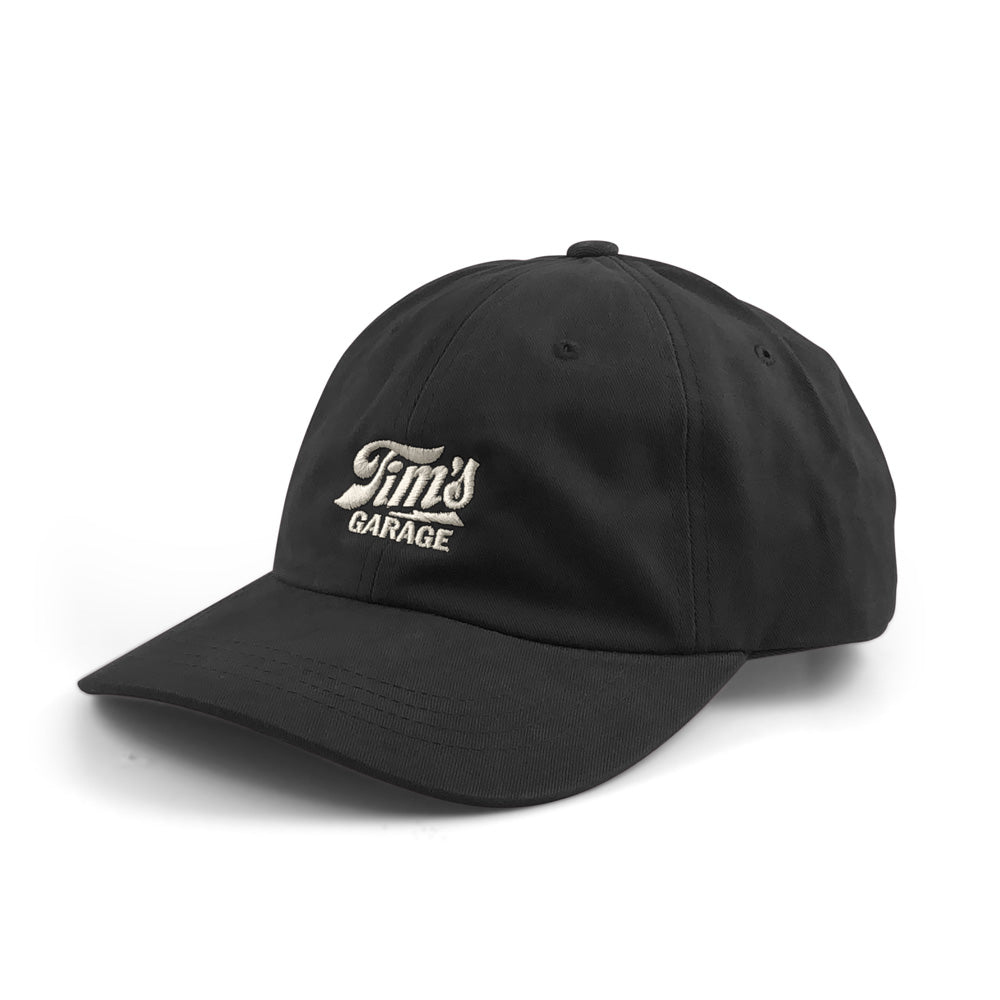 Tim's Garage Logo Dad Hat Black