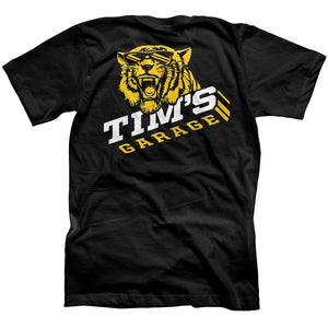 Tims Garage Alumni Tiger Shirt Front Black