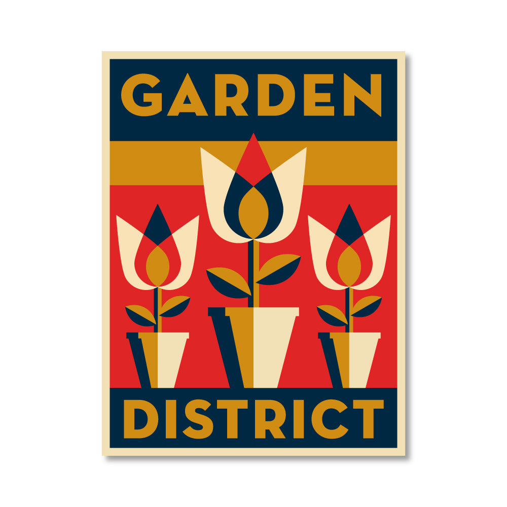 Garden District Vinyl Sticker