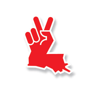 Louisiana Peace Hand Sticker