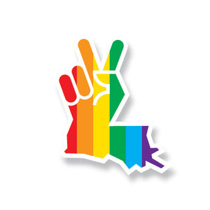 Louisiana Peace Hand Sticker Pride