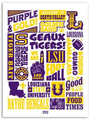 LSU Screen-printed Poster