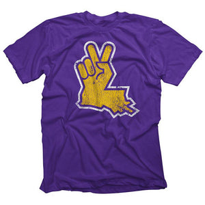 Louisiana Peace Hand Purple/Gold