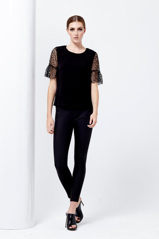 RAPTURE WEB SLEEVE TOP