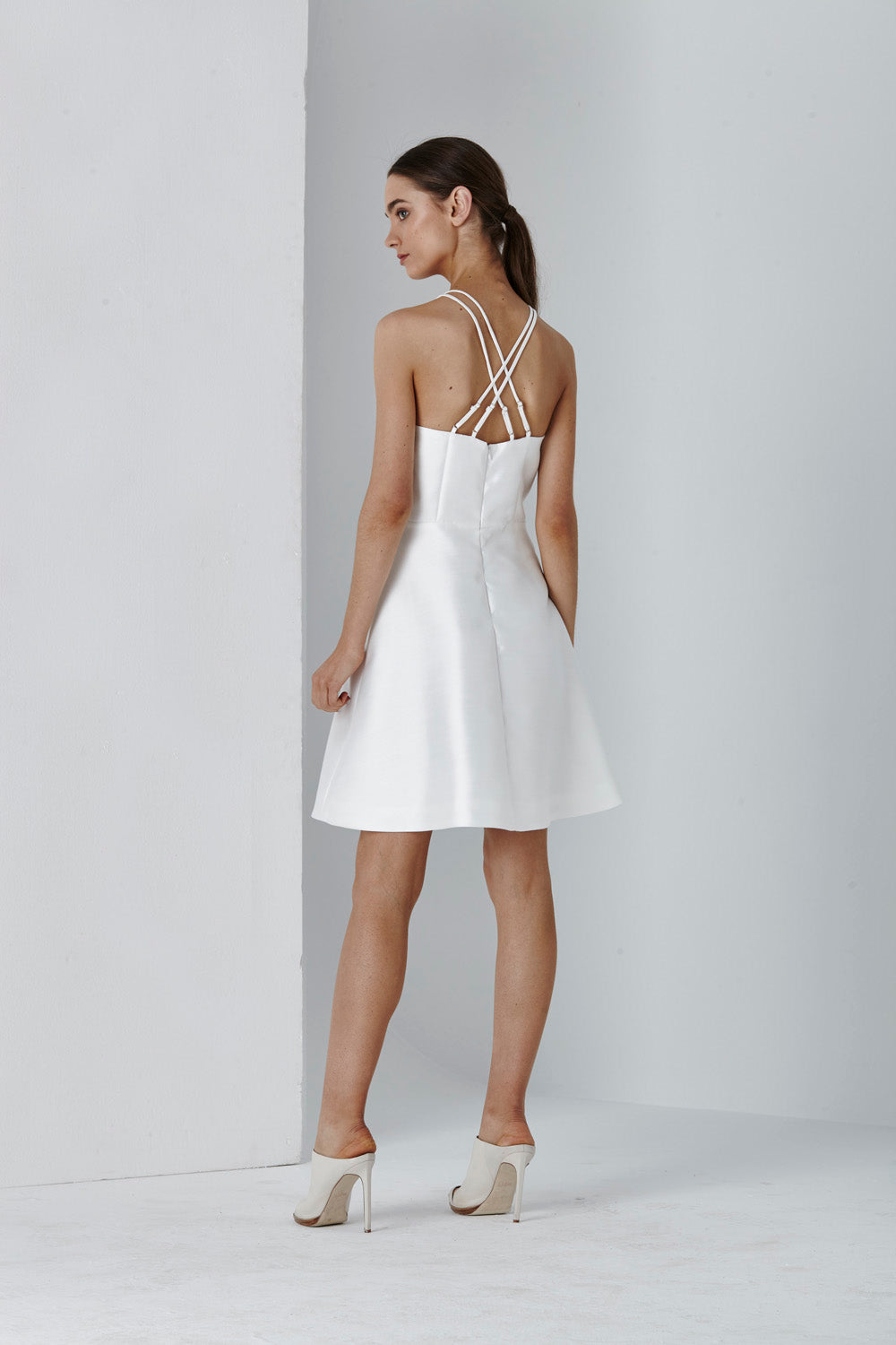DOLCE DOUBLE STRAP FLARE DRESS