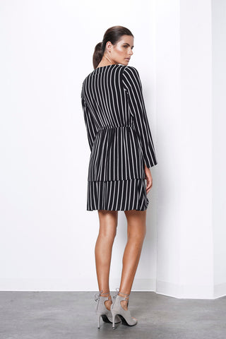 CREATOR STRIPE L/S LAYERED DRESS