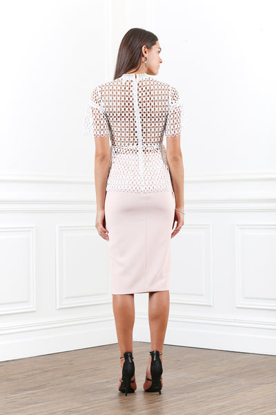 ORNATE PENCIL SKIRT