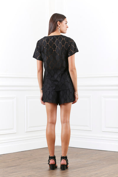 LUSTRE LACE SHORTS
