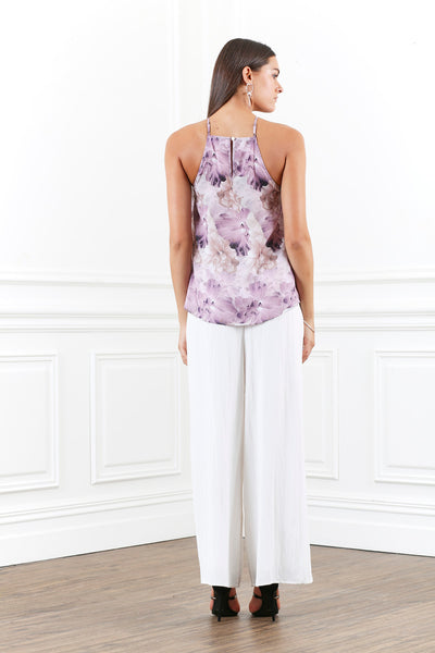 LUSTRE FLORAL LAYERED CAMI