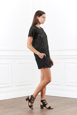 LUSTRE LACE TEE