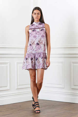 LUSTRE FLORAL LACE TRIM DRESS