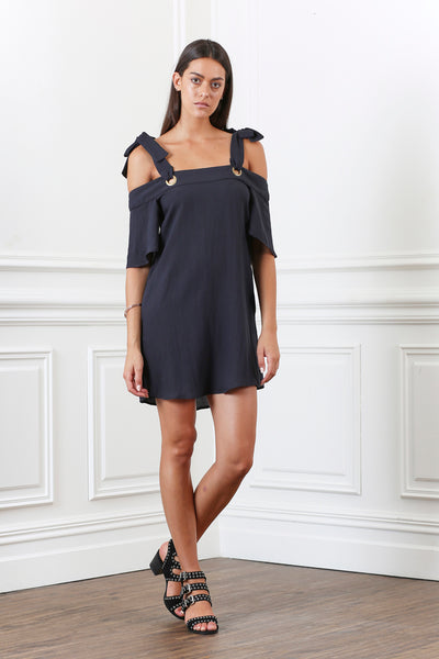 LUSTRE TIE MINI DRESS