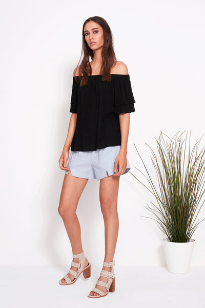POWER OFF SHOULDER TOP