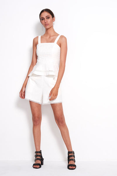 PLAY LACE TRIM SHORTS