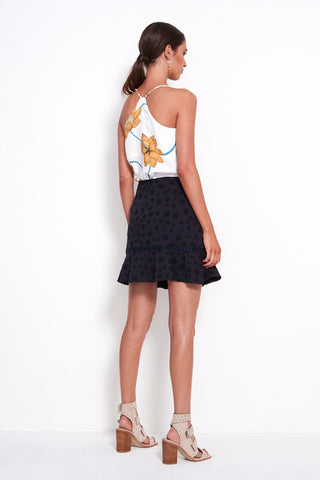 PLAY LACE TRIM SKIRT