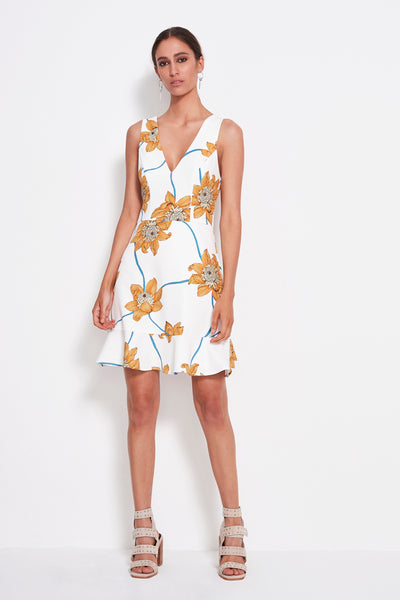 PLAY WHT FLORAL DRESS