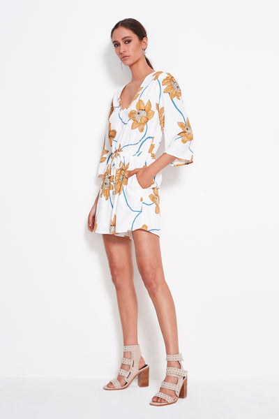 PLAY WHT FLORAL ROMPER