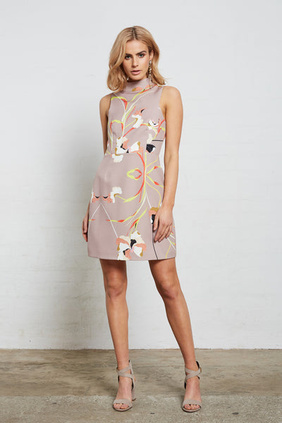 SUPERIOR PRINT MINI DRESS