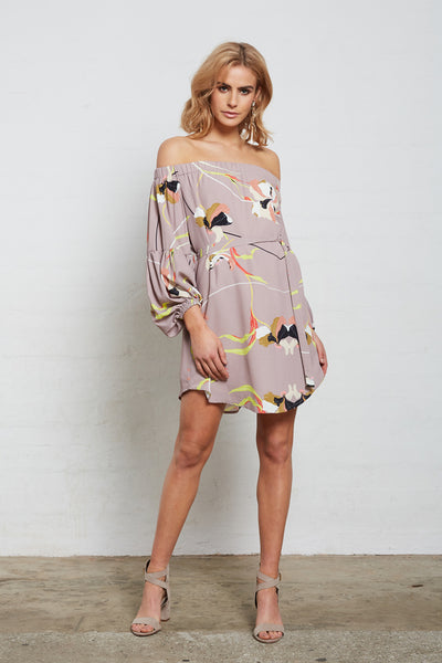 SUPERIOR PRINT OFF/SH DRESS
