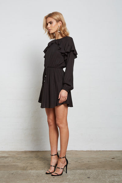 SUPERIOR FRILL TIE DRESS